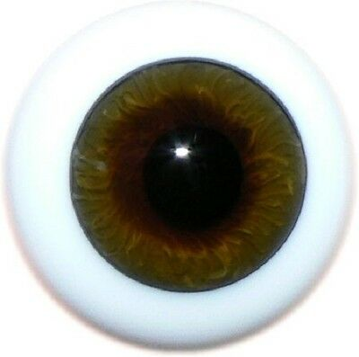 REBORN DOLLS REAL GLASS FULL ROUND EYES, COLOR 44 BROWN - 22 MM