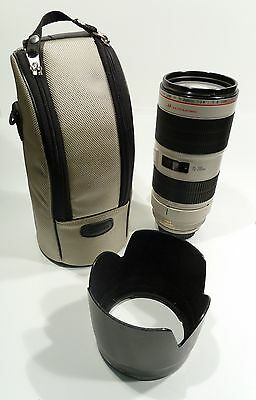 Canon EF 70-200mm 1:2.8 L IS II USM Zoom Lens w/case and hood