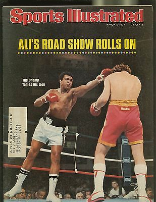 SPORTS ILLUSTRATED MAGAZINE MARCH 1976 ALI'S ROAD SHOW ROLLS ON