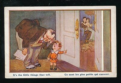 Artist FRED SPURGIN Romance Children Comic Tiny Tots Inter-Art #375 Unused PPC