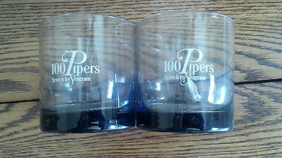 "Seagram's 100 Pipers Scotch 3"" Glasses - Set of 5 - New in box!!"