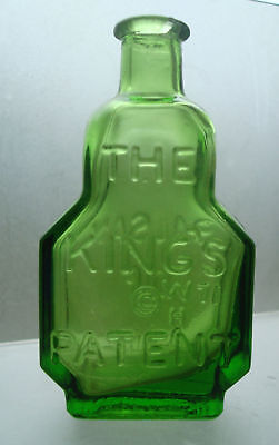 "Wheaton green bottle BALSAM OF LIFE KINGS PATENT 3"" min"