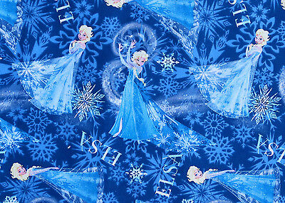 DISNEY  FROZEN SISTERS ELSA CHARACTER TOSS COTTON FABRIC  SPRINGS CREATIVE YARDS