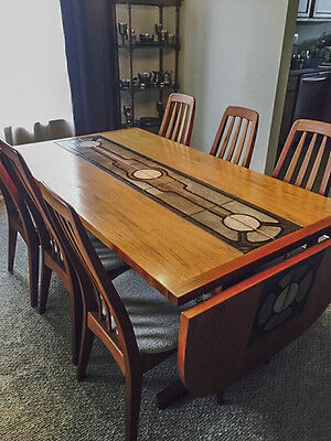 Vintage Scan Design Danish Teak Dining Table & 6 chairs, Made in Denmark