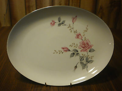 Castle Court Fine China ~ Rose Glow ~ Oval Platter Serving Tray Plate 12 1/2""