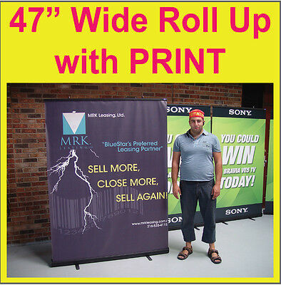 BLACK BASE Retractable Pop Up Booth Trade Show Banner Stand Display RC3 + PRINT