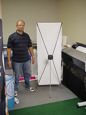 """LOT OF 10 - Trade Show 24"""" WIDE X Banner Stands Pop Up Booth Displays BRAND NEW"""