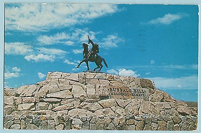 Vintage Postcard The Scout Buffalo Bill Monument Cody, Wyoming bronze statue
