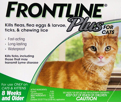 Merial Frontline Plus for Cats  1 month supply EPA appproved