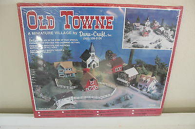 OLD TOWNE MINIATURE VILLAGE KIT OT950 BY DURA-CRAFT (NEW!) HO SCALE WOOD