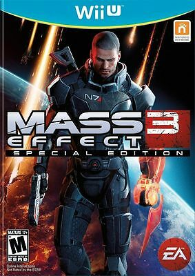 Nintendo WiiU video game: Mass Effect 3 special edition (Free Shipping) Wii U