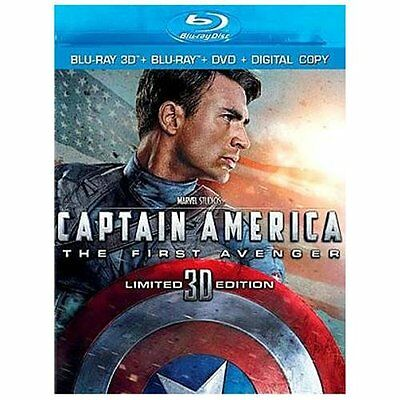 Captain America: The First Avenger (3D Blu-ray + 2D Blu-ray + DVD + Digital Copy