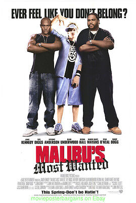 MALIBU'S MOST WANTED MOVIE POSTER Original DS 27x40 Rolled 2003 Film