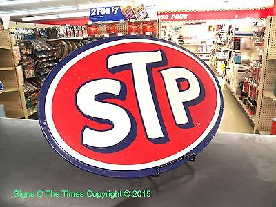 STP Engine Products 3D Metal Sign Super Bird Plymouth Petty Dodge Mopar Chrysler