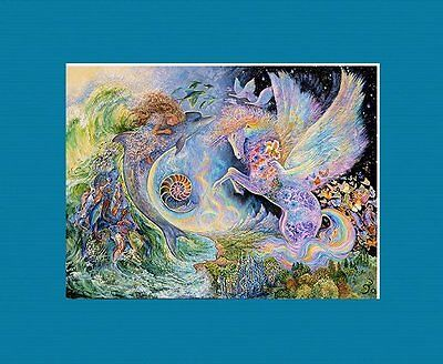 SHIMMERING MATTED UNICORN ART * JOSEPHINE WALL * MAGICAL MEETING