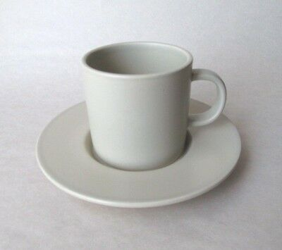 Calvin Klein STONE by Swid Powell ~Stoneware Beige Cup & Saucer ~ FREE GIFT WRAP