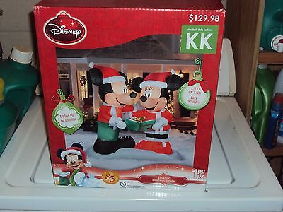 AIRBLOWN INFLATABLE CHRISTMAS 7.5 FT FEET 85TH ANNIVERSARY MICKEY & MINNIE MOUSE