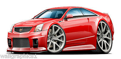 2010-14 Cadillac CTS-V Wall Decals Graphics Sticker Cling Man Cave Garage Decor
