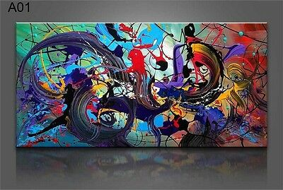 24x48inch MODERN ABSTRACT HUGE WALL ART OIL PAINTING ON CANVAS (NO STRETCH)