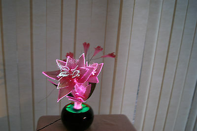 Orchid Flower Colour Changing Fiber Optic Lamp 16'' Tall