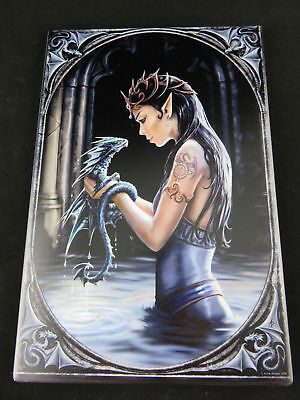 "Anne Stokes ""Water Dragon"" Large Ceramic Art Tile Gothic Fantasy"