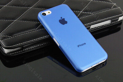 Blue Ultrla Thin Matte Clear Back Hard Case Cover Skin For Apple iPhone 5C