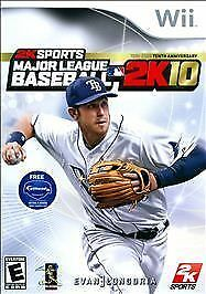 Major League Baseball 2K10  (Nintendo Wii, 2010) COMPLETE & MINT w/FREE SHIPPING