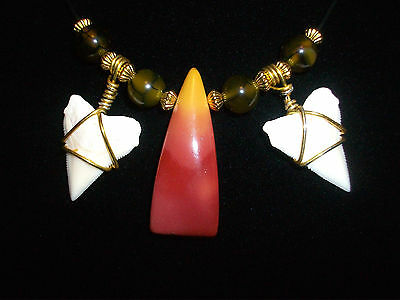 NEW SHARK TOOTH SURFER BEACH WEAR NECKLACE JEWELRY ON SALE