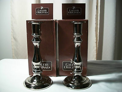 AVON SILVERTONE CONVERTIBLE CANDLESTICKS FOR TAPER CANDLE 2 SIZES