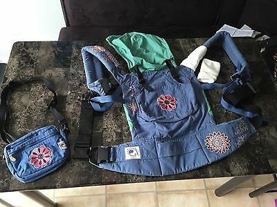 Organic Ergo Baby Carrier 2008 Discontinued Floral Design - Great Condition!