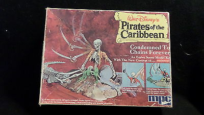 vintage Disney's Pirates of the Caribbean model kit CONDEMNED TO CHAINS FOREVER