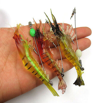 Soft Bait Lure Hook Shrimp Noctilucent Glow Fishing Tackle Bait Crankbait 18cm