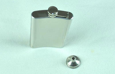 Very elegant 10oz Stainless Steel Hip Flask Polished and Sanding Free Funnel