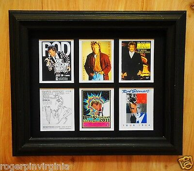 ROD STEWART   -  6 REPRODUCTION PICTURES IN FRAMES  (3 DIFFERENT SETS OF 6)