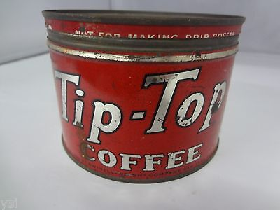 VINTAGE TIP-TOP BRAND COFFEE TIN ADVERTISING COLLECTIBLE GRAPHICS G-212