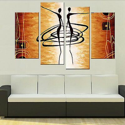 MODERN ABSTRACT OIL PAINTING ON ART CANVAS WALL DECOR (No frame)
