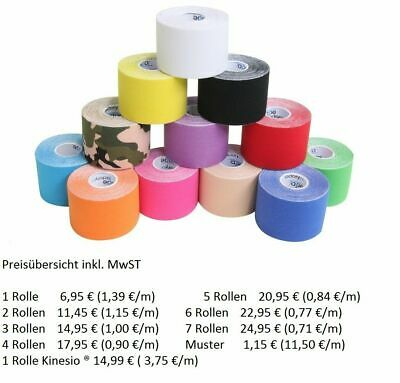 KINESIO® TEXCLASSIC TAPE oder KINESIOLOGIE TAPE von IAMSPORTY in 12 FARBEN