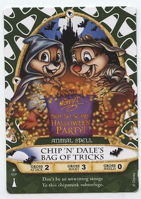 Disney CHIP 'N DALE MNNSHP HALLOWEEN PARTY SORCERERS of MAGIC KINGDOM SPELL CARD