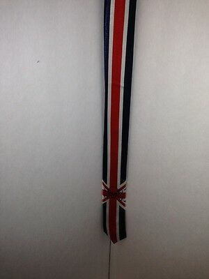 British Flag At Union Jack Tie .       With Crossbones And Skull