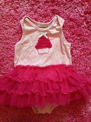 First Impressions Baby Girl Pink Cupcake Birthday Dress 1Pc Sz 12 Mo One Year