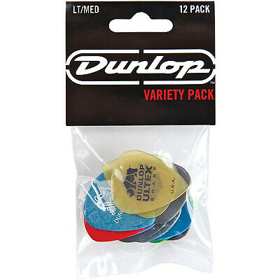 New Dunlop PVP101 Pick Variety Pack, Assorted, Light/Medium, 12/Player's Pack