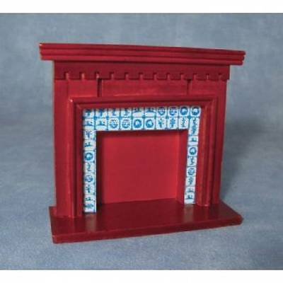 Streets Ahead 1:12th scale - DF125A - 'Mahogany Tiled' Fireplace