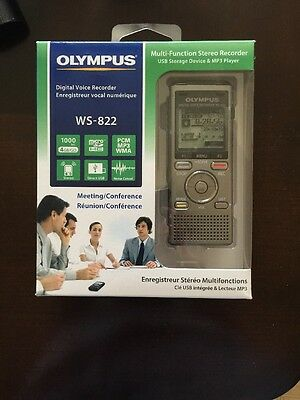 Olympus WS-822 GMT Voice Recorder with 4 GB Built-In-Memory and Direct USB