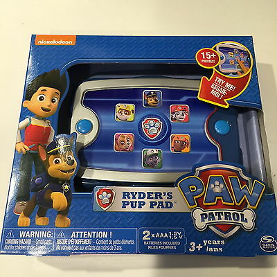 NEW Nickelodeon PAW PATROL Ryder's Pup Pad with 15+ Phrases