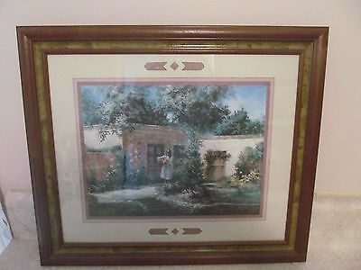 Vintage Homco Home Interiers Framed Picture Heart Fruit