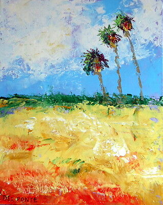 Original Fine Art Painting Stretched Canvas New Modern Contemporary by DEL PONT
