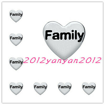 ~hot 10pcs FAMILY wholesale Floating Charms for Glass Memory Locket necklace e17