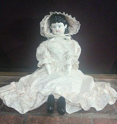 "25"" Tall Antique/Vintage Doll with China  Head, Arms and Legs"
