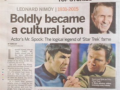 STAR TREK 1991 HAMILTON COLLECTOR PLATE SPOCK 25th ANNIVERSARY + NEWSPAPER DIED
