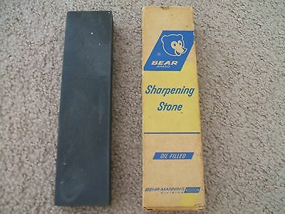 Bear Norton Oil Filled Crystolon Sharpening Stone-Boxed-Used-JB8